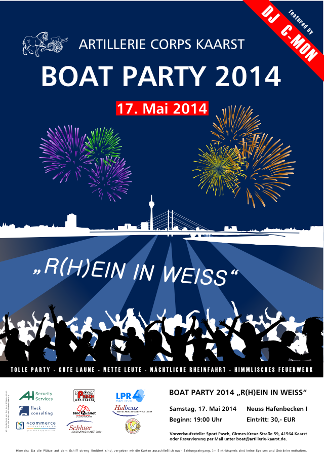 BOAT PARTY 2014 - Plakat